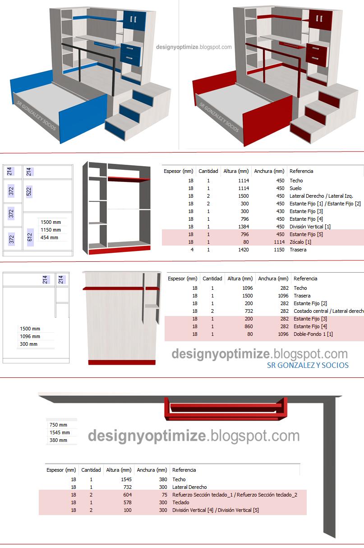 Diseño De Muebles Madera: Fabricación y Planos - Juego de Cuarto ...
