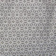 Tissu à motif japonais asanoha etoiles gris 100% coton