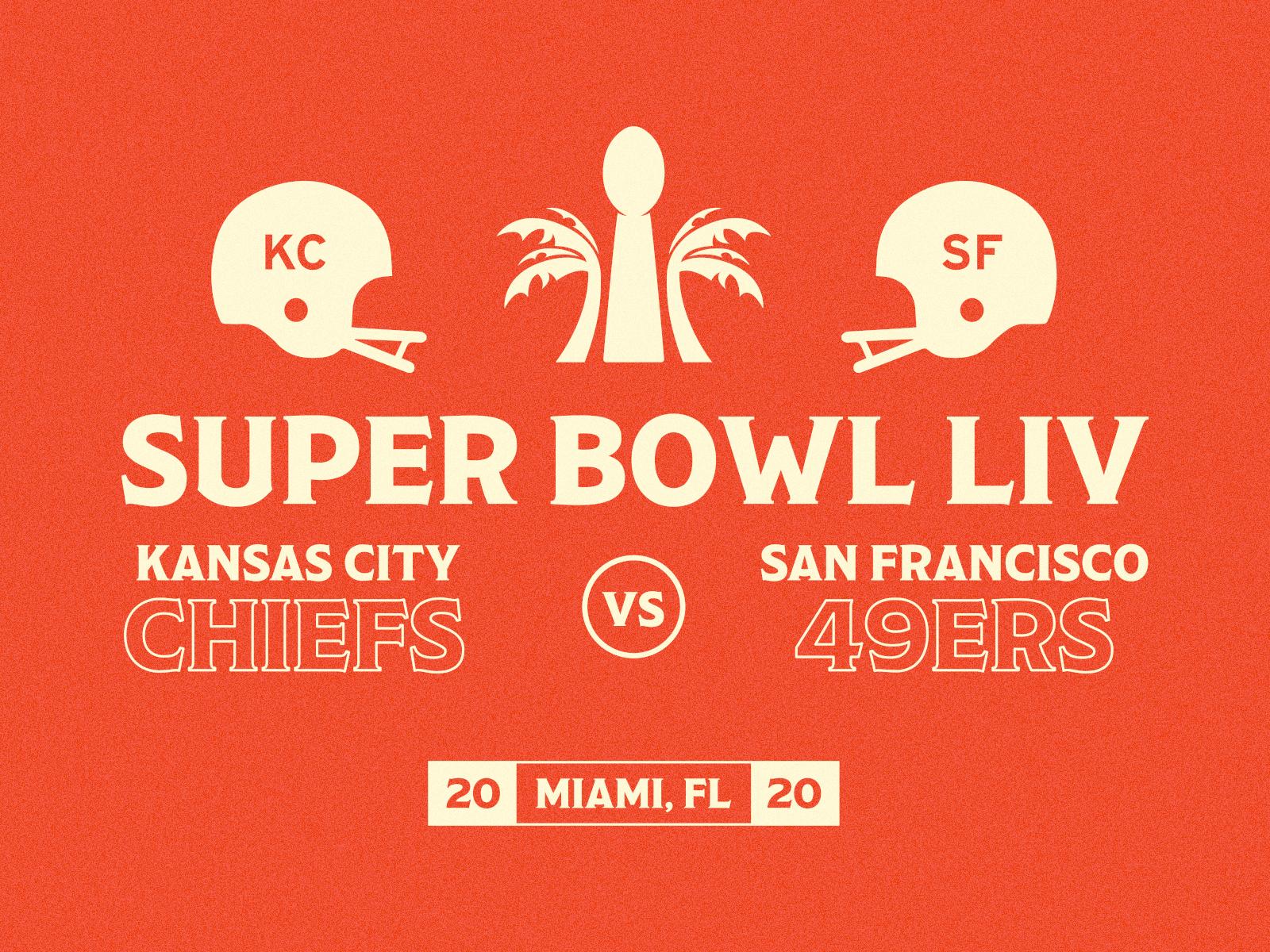 Super Bowl Liv Tackling Design With The 49ers Chiefs In 2020 Super Bowl Blog Illustrations Super