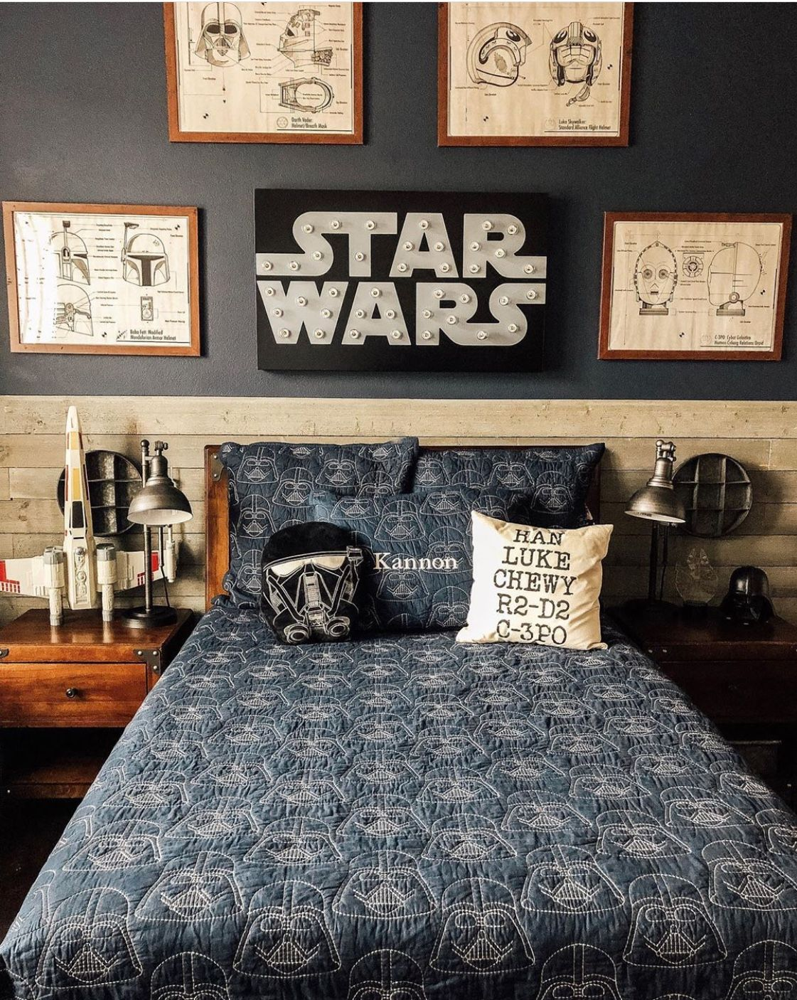 Star Wars boy's room Pottery Barn Kids quilt (With images
