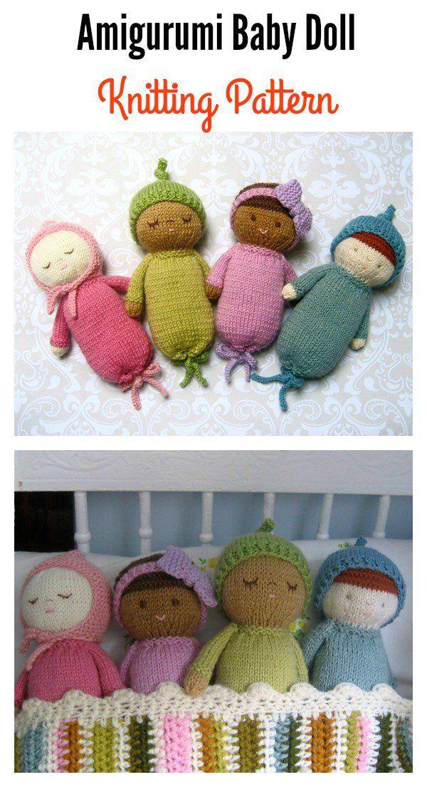 Cute Amigurumi Baby Doll Knitting Patterns   Baby dolls, Knitting ...