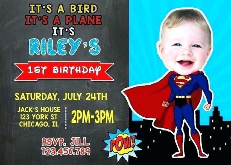 superman theme birthday invitation