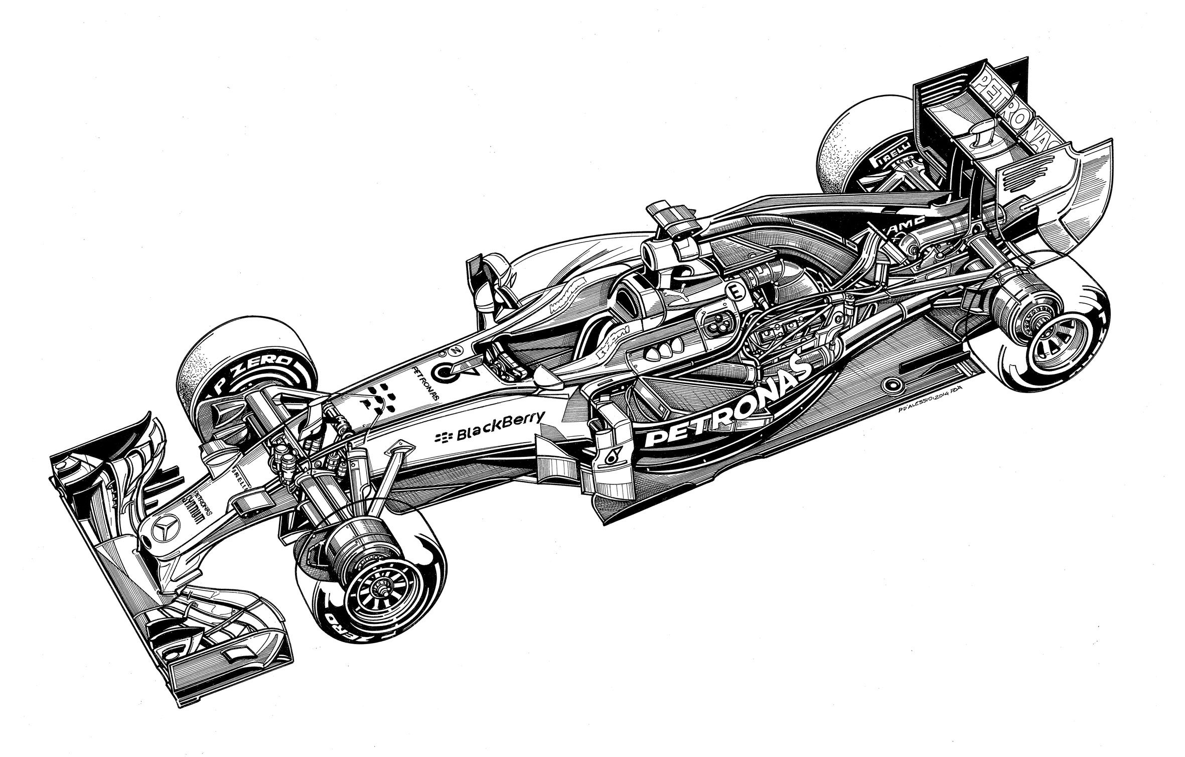 Technical Drawings Of Mercedes Cars