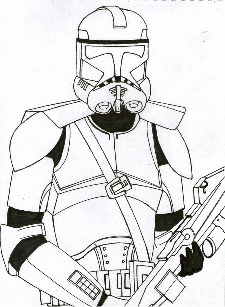 Clone Trooper Coloring Page Unique Galactic Marine Clone Trooper Unfinished Teaser By Fu Star Wars Coloring Book Star Wars Characters Poster Star Wars Drawings