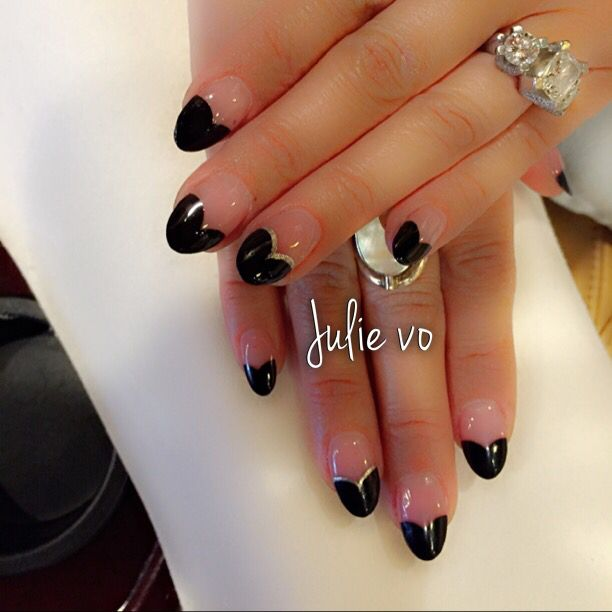 Heart tipped nails