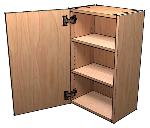 Upper Kitchen Cabinet Woodworking Plans: How To Build Frameless Wall Cabinets