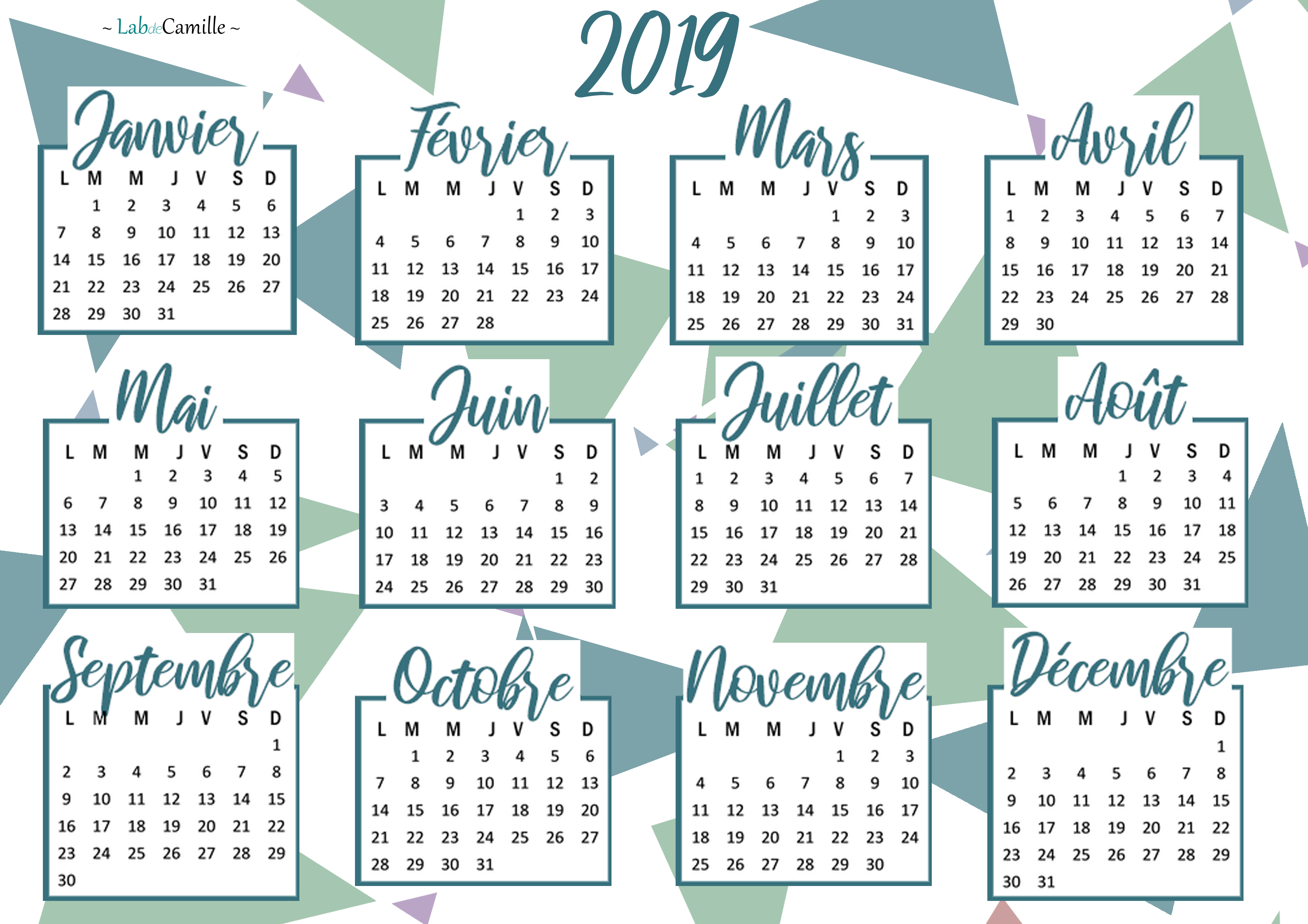 Calendrier 2019 Png.Calendrier 2019 A Imprimer Calendrier 2019 Organisation