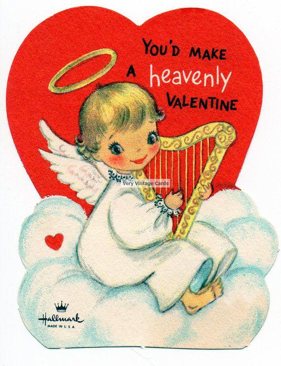 Vintage 1950s Valentines Day Card Printable by VeryVintageCards