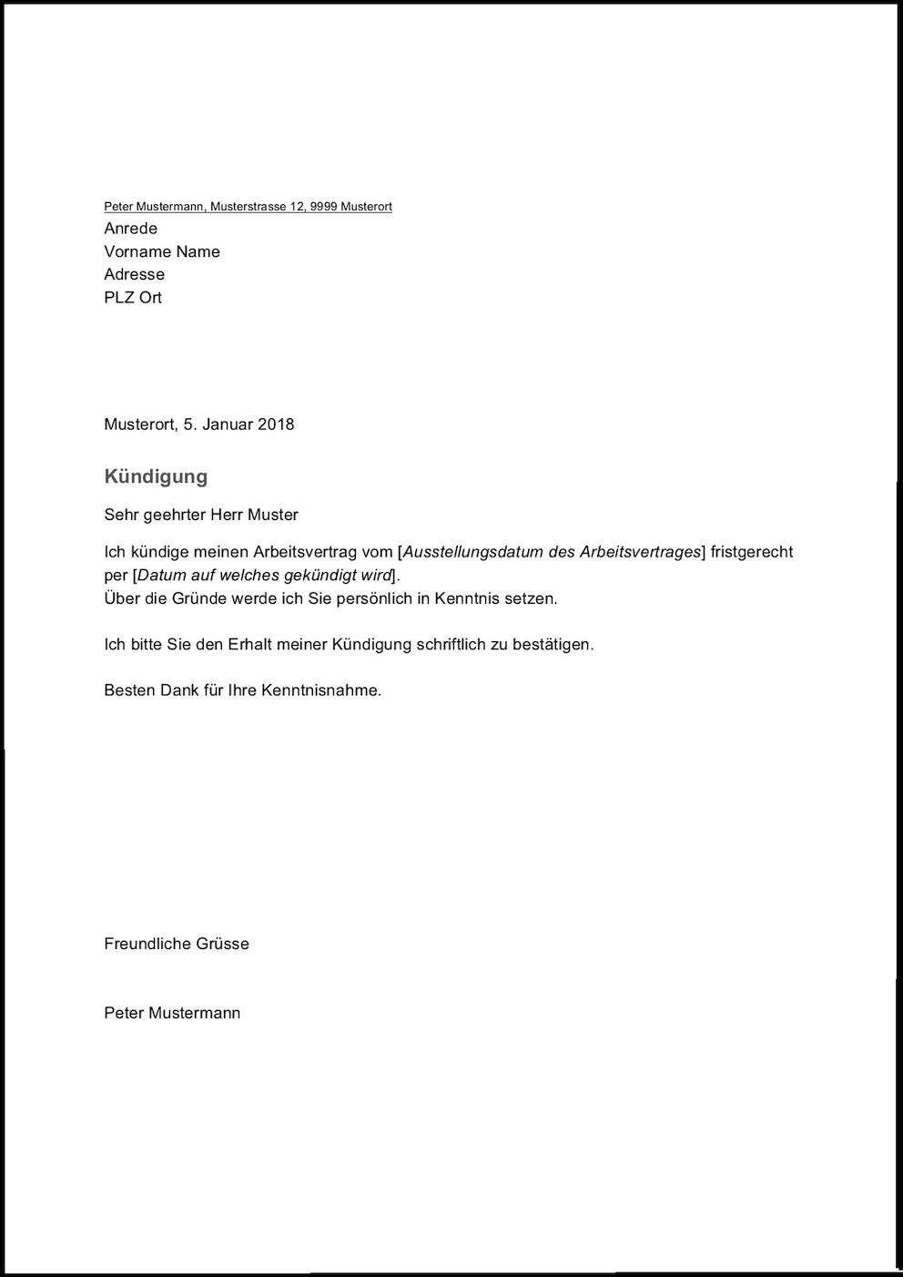 Druckbar Mustervorlage Kundigung Pdf Dokument Word Wiederherstellen