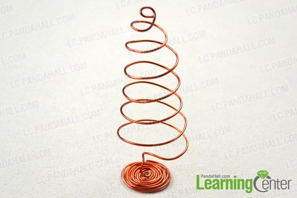 wrap the main frame of the wire christmas tree ornaments