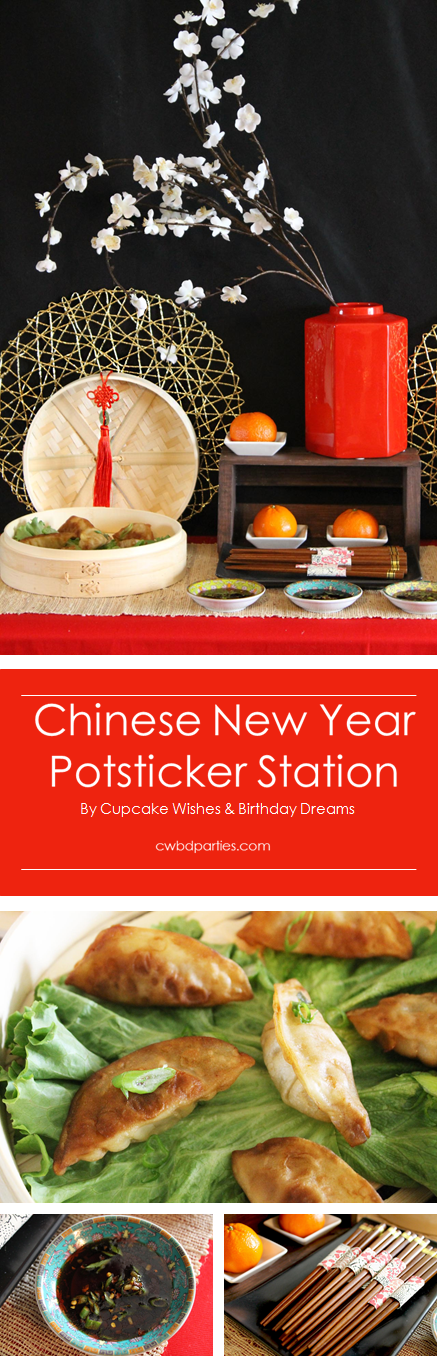 Cupcake Wishes & Birthday Dreams: Chinese New Year Pot Sticker Station @cwbdparties for @worldmarket