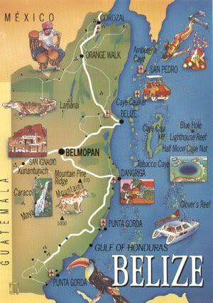 Belize Points Of Interest BelizeanMaps Pinterest Belize And - Belize tourist map