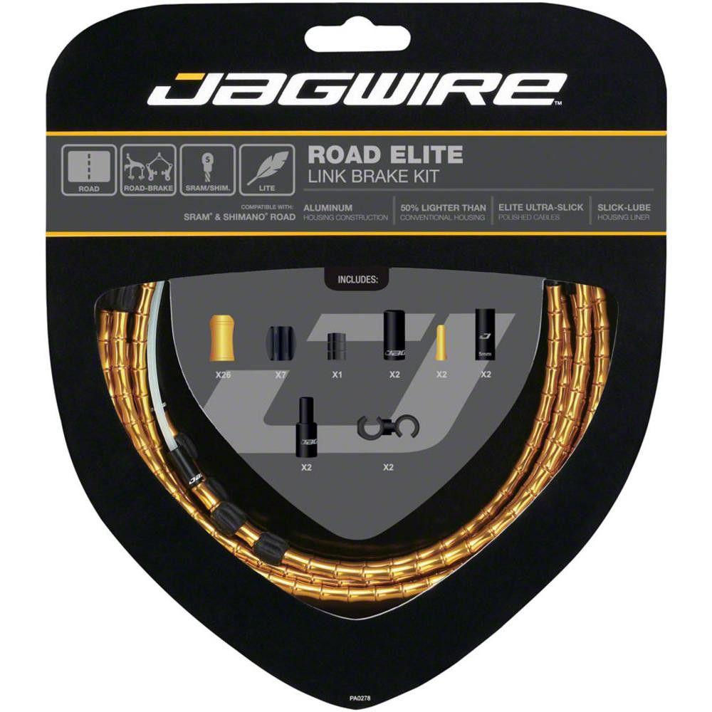 Jagwire Road Elite Link Teflon Coated Shift Cable Kit For Sram//Shimano Blue