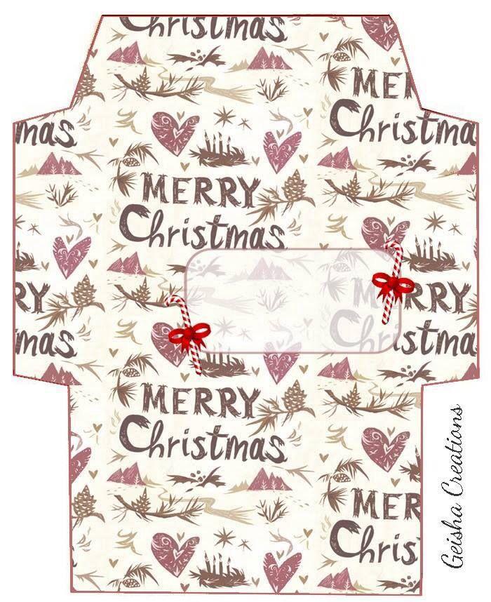 Https S Media Cache Ak0 Pinimg Com Originals 1a 06 B7 1a06b73dd37db51d950717568d3 Christmas Envelope Template Christmas Envelopes Envelope Template Printable
