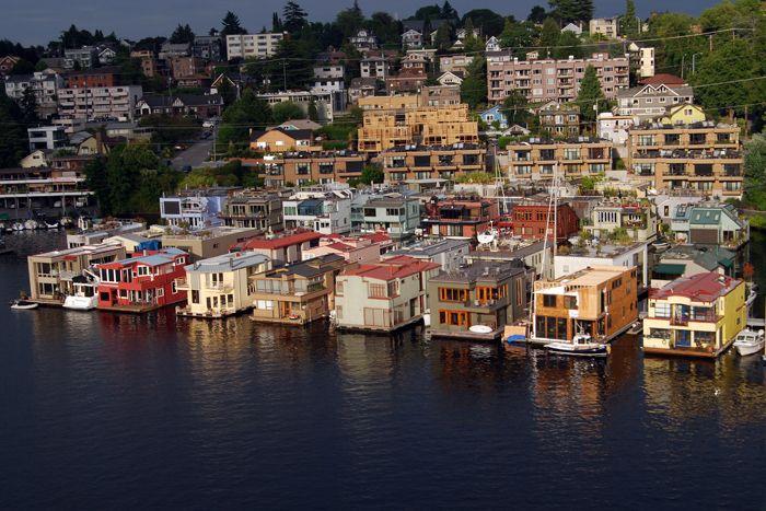 Floating Houses Houseboats Seattle Lake Union