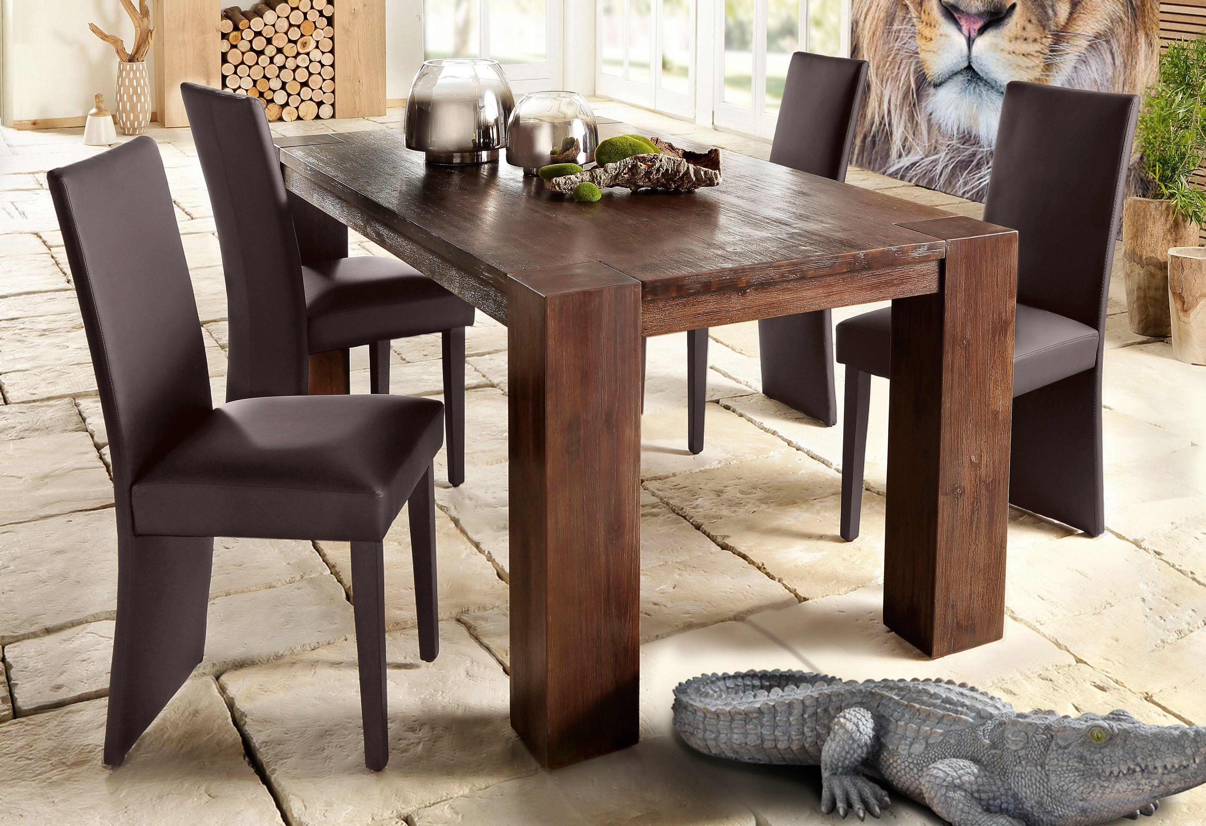 Home Affaire Esstisch Braun Tischbeine 12 12 Cm Eckig 180 90cm Maggie Pflegeleichte Oberfläche Fsc Zertifiziert Jetzt Beste Esstisch Tisch Küche Tisch