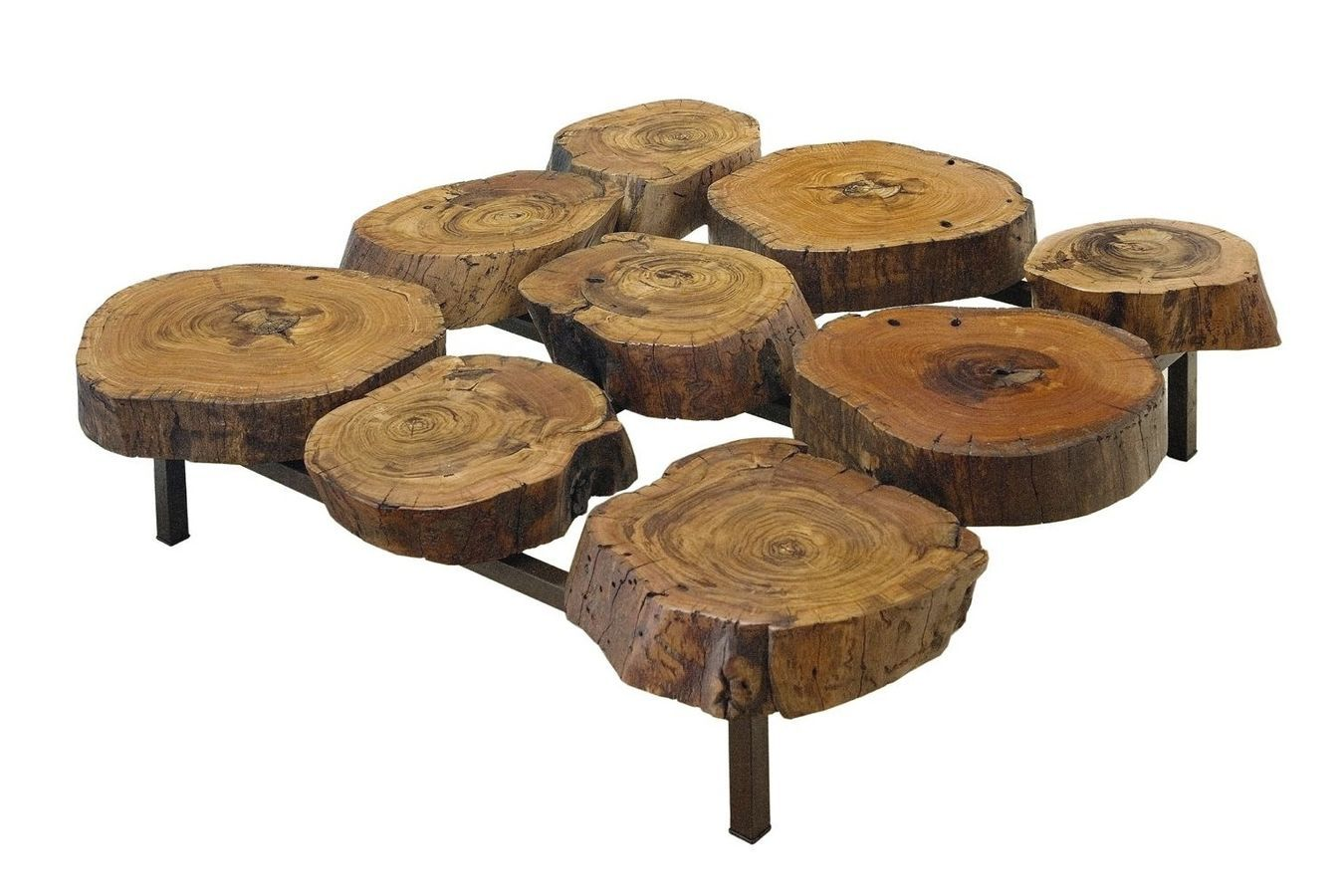Amazing Contemporary Coffee Table In Reclaimed Wood FATIA Rotsen Furniture