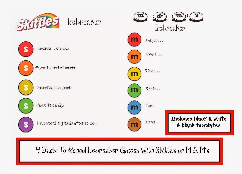 M & M and Skittle Icebreaker Games - Classroom Freebies | BOY ...