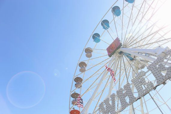 Ferris Summer Photography Ferris Wheel Fair Pastel by Seamerias