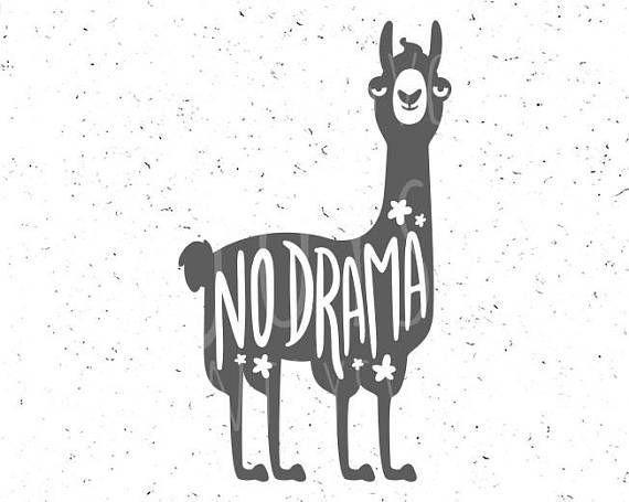 Llama svg No Drama Llama svg file No Drama svg Funny llama