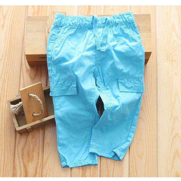 外贸出口儿童纯棉长裤 梭织小童全棉裤子 休闲裤纯色长裤童裤