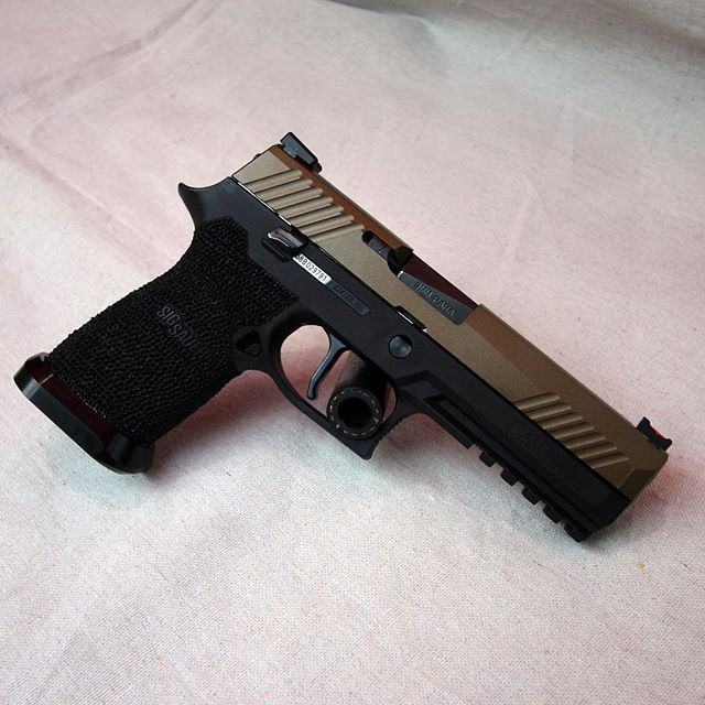 My newly built competition Sig Sauer P320 outfitted with