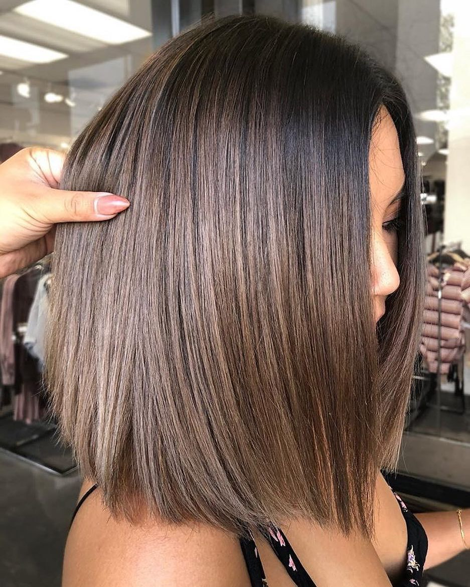 Stylish Ombre Balayage Hairstyles For Shoulder Length Hair 2019 Medium Haircut Metallic Hair Color Hair Styles Metallic Hair