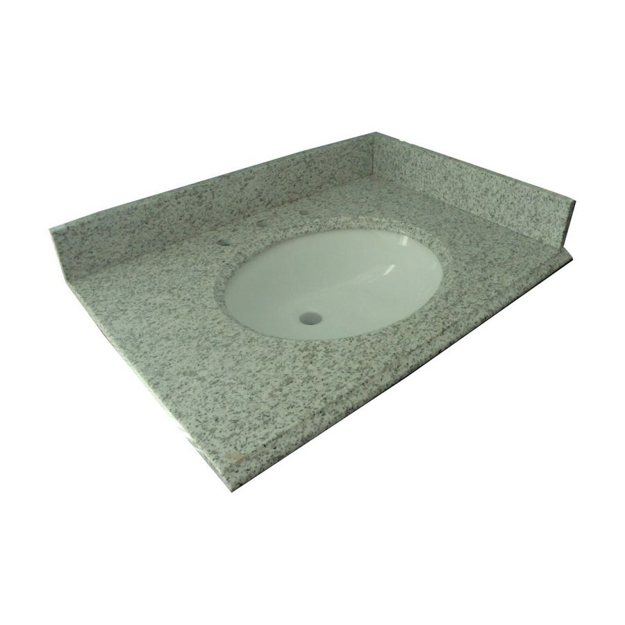 Allen Roth Mission White Granite Undermount Bathroom Vanity Top