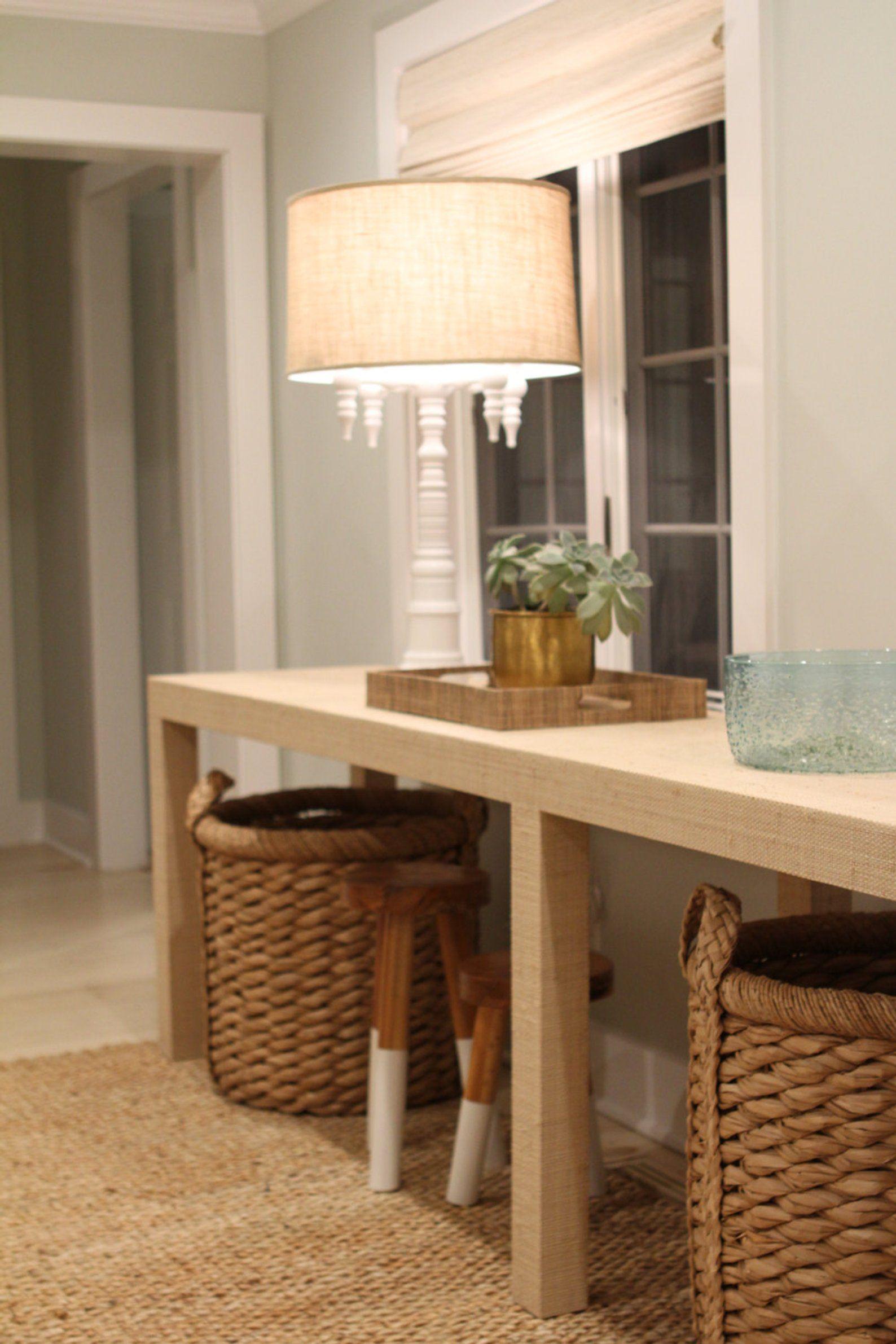 Grasscloth Console Table Custom Built Design Your Own Custom