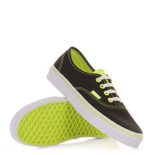 Vans Authentic Shoes - Neon Pop Black Yellow. £47