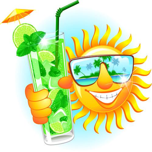 summer sun free eps file elements of summer sun vector art 08 rh pinterest co uk summer sun vector free Hot Summer Sun