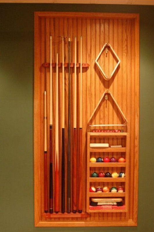 Photo of Pool rack set into wall #recreationalroom #recreational #room #ideas