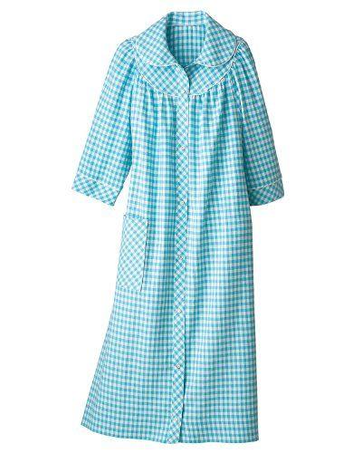 Long Flannel Check House Coat 22 95 House Coats
