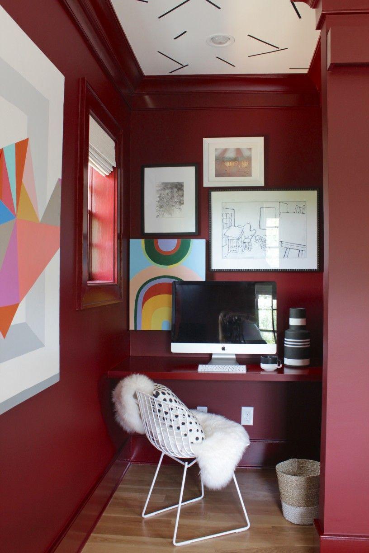 benjamin moore classic burgundy home office nook on benjamin moore office colors id=23004