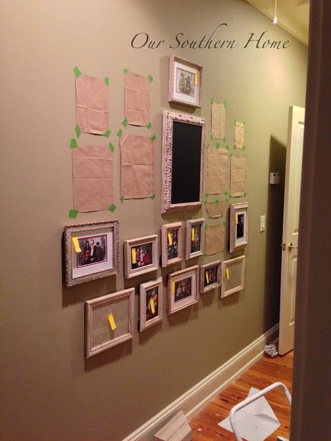 Hanging a Gallery Wall {TIPS} - Our Southern Home