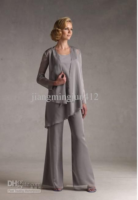 Whole Mother Of The Bride Dresses Elegant Chiffon Mothers Guests Pant