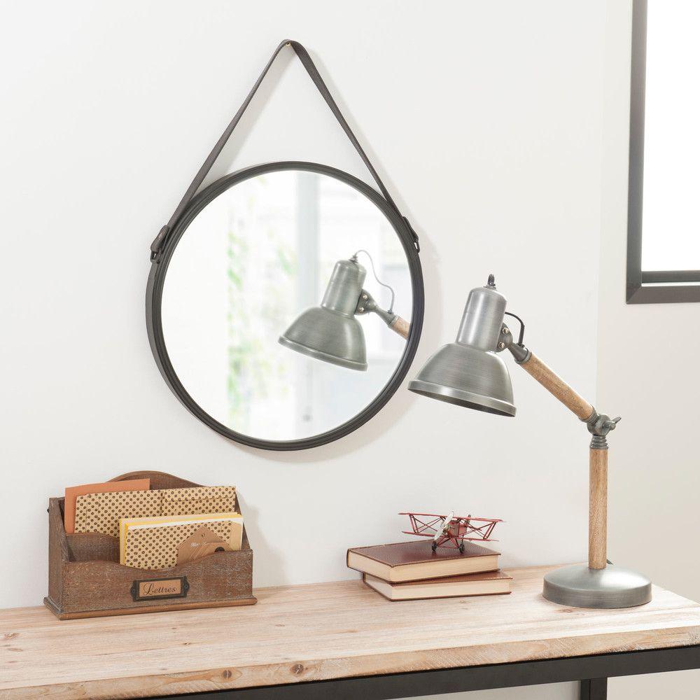 specchio in metallo 41 cm bagni pub miroir metal maison du monde et miroir