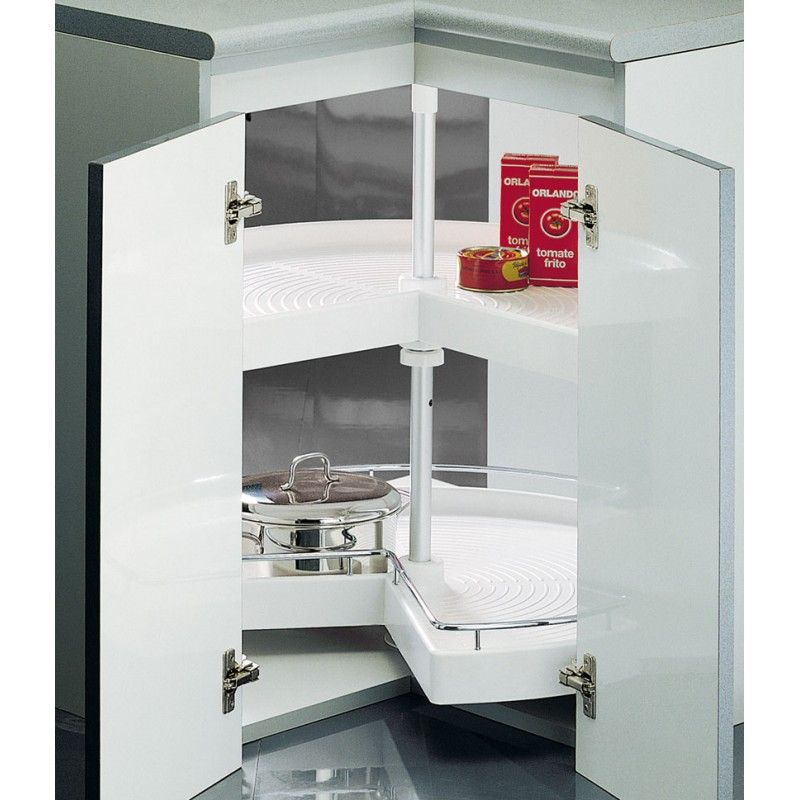 Bandejas giratorias de rincon a partir de for Organizar armarios cocina