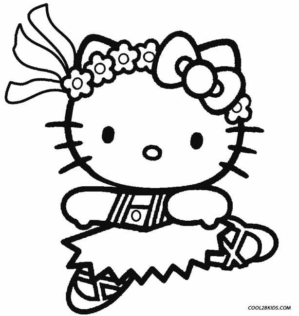 Printable Ballet Coloring Pages For Kids Cool2bkids Hello Kitty Colouring Pages Hello Kitty Coloring Kitty Coloring