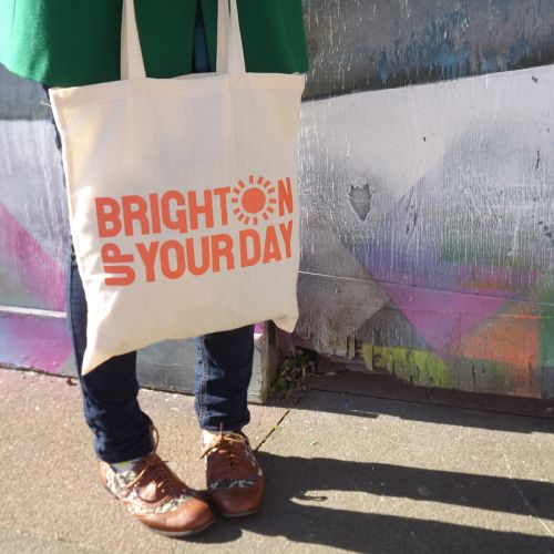 Brighton Up Your Day tote bag