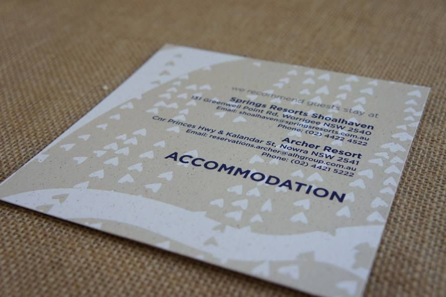 wedding reception directions card%0A LPB Destination Wedding Information Card  back featuring Accommodation  details for guests  We can customise