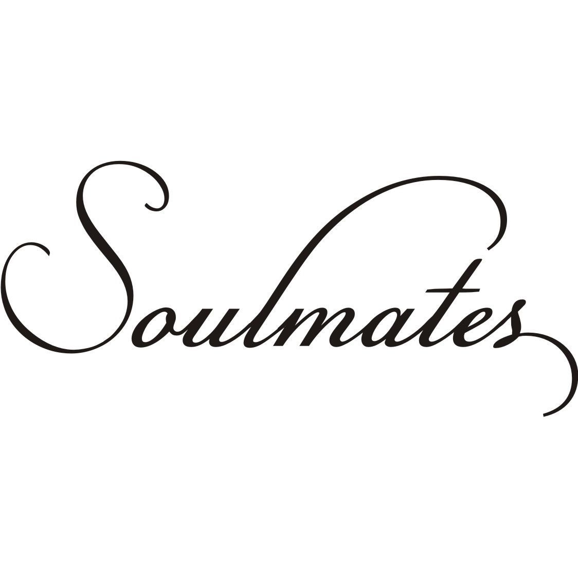Design On Style Soulmates Vinyl Wall Art Lettering Decor Mural - How to make vinyl wall decals stick