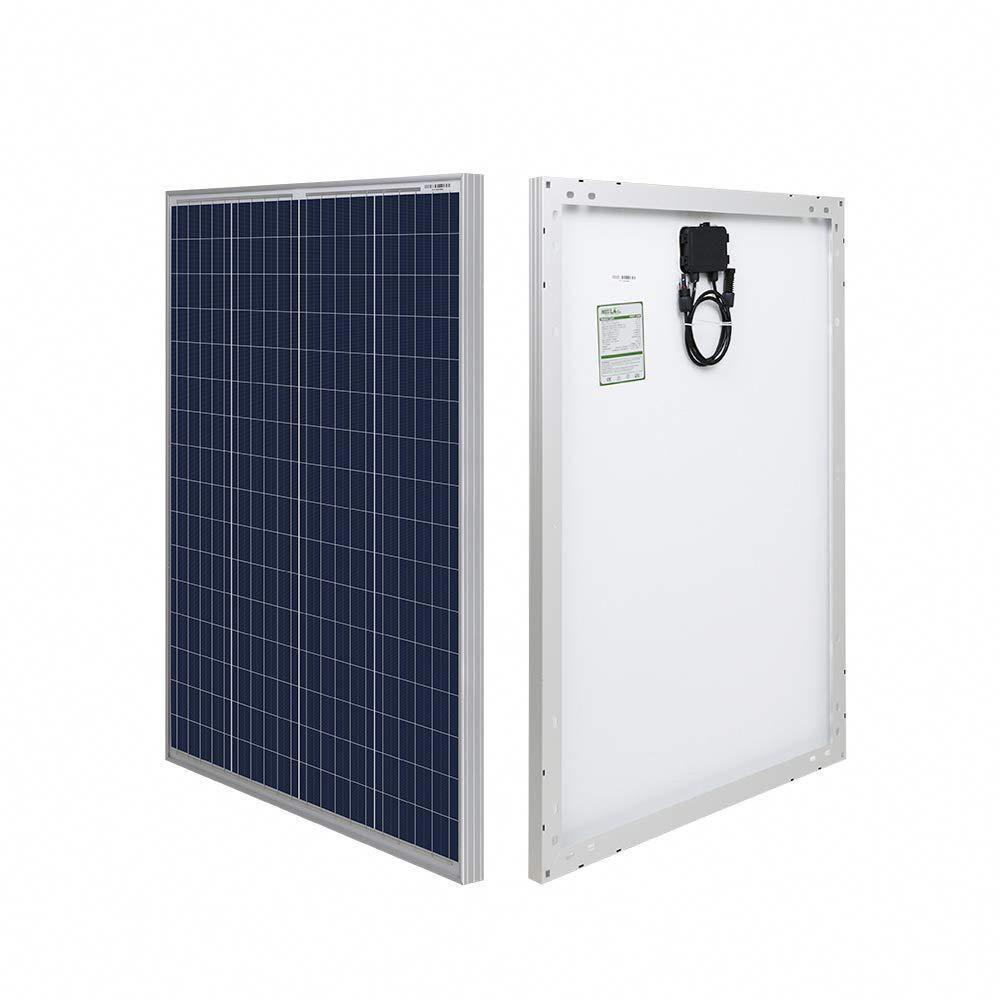 Hqst 100 Watt 12 Volt Polycrystalline Solar Panel Hqst 100p The Home Depot Solar Panels Solar Panels For Home Rv Solar Panels