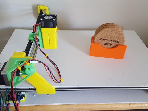 3dpburner 3d Printed Laser Cutter Engraver By Tritodd Impresora