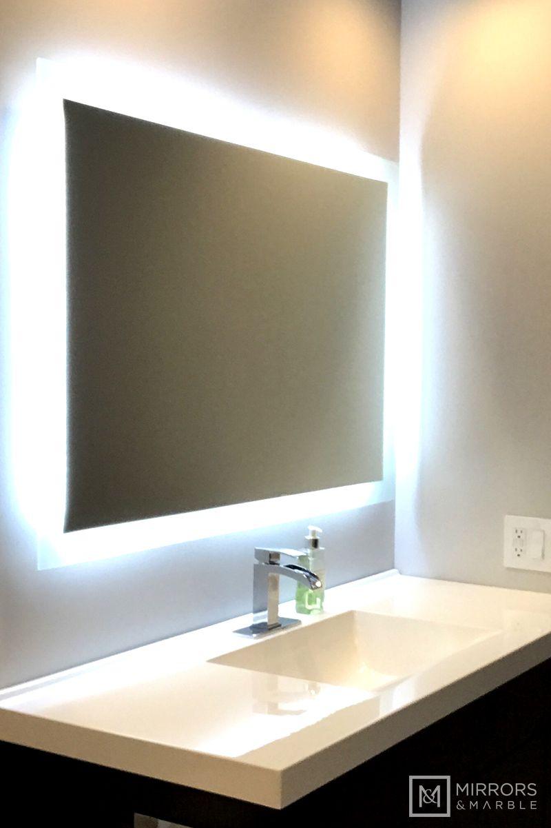 Side Lighted Led Bathroom Vanity Mirror 40 Wide X 36 Tall