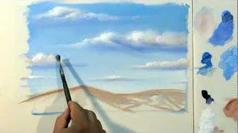 Pintura Em Tela Passo A Passo De Nuvem Youtube Pintura Em Tela