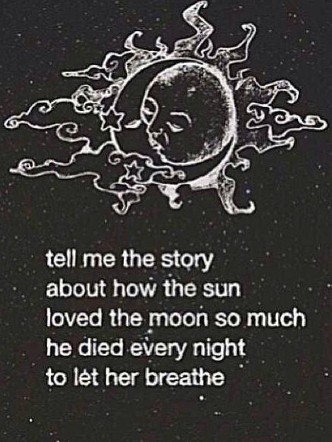 Heartbroken, Quote, Sad, Love, Sun And Moon, Sun, Moon