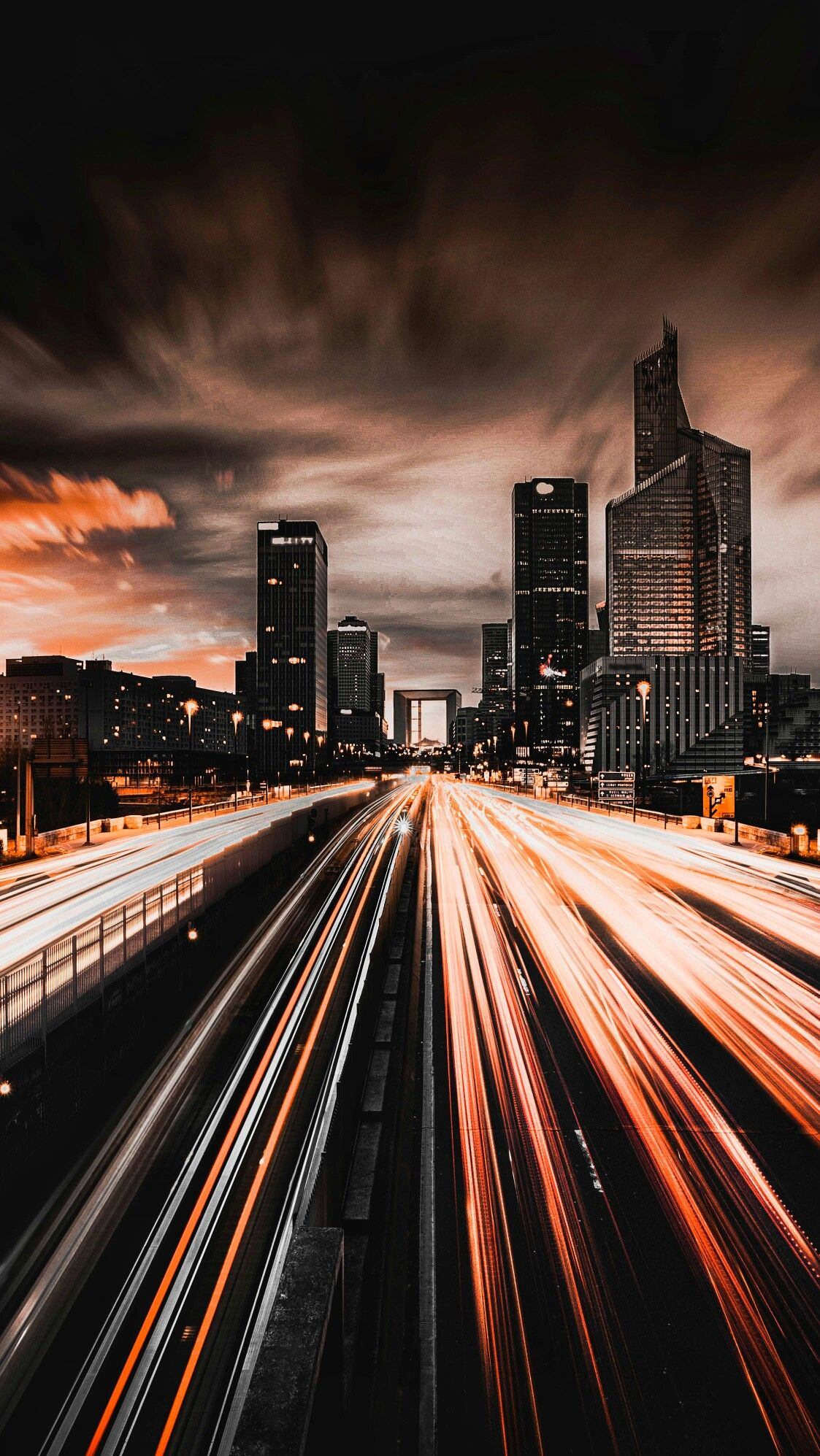 Wallpaper Of Night View Of Vehicle Head Tail Lamp Trail Background Wallpaper Night View City Iphone Wallpaper City Wallpaper Street Photography Portrait