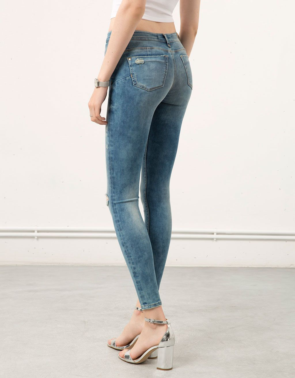 Jeans taille haute push up