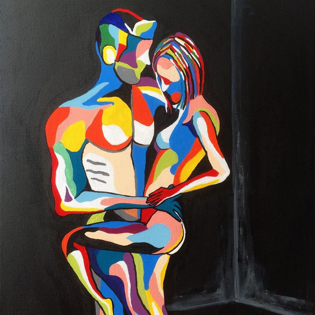 """NEW... ""Free souls""....16""x20"" #art #artists #abstract #abstractart #love #lovers #interior #interiors #contemporary #people #pose #colorful #colour…"""